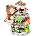 Hanging Monkey Diaper Cake