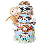All Star Sport Monkey Diaper Cake