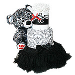 Black and White Bear Diaper Cake
