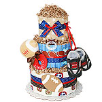 Football Diaper Cake for a Boy