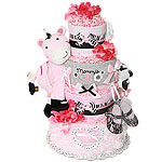 Mommy's Girl Zebra Diaper Cake