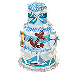 Sail Boat Nautical Diaper Cake