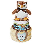 O is for Owl Diaper Cake