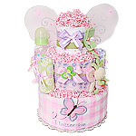 Little Cutie Lavender Butterfly Diaper Cake