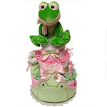 FROG Diaper Cake for a GIRL