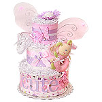 Pink Magic Butterfly Diaper Cake