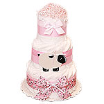 Pink Sheep Decoration Diaper Cake