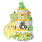 Pond Frogs Diaper Cake