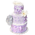 Pretty Girl Lavender Diaper Cake