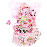 Princess Butterfly Diaper Cake
