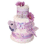Purple Little Butterfly Diaper Cake