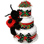 Red and Black LadyBug Diaper Cake