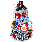 Rock Your Socks Off Diaper Cake