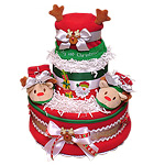Rudolph the Red Nosed Reindeer Diaper Cake