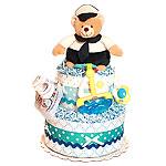 Captain Bear Diaper Cake