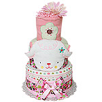 Flower Sheep Farm Diaper Cake
