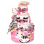 Taggies Little Zebra Diaper Cake