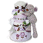 Sweetheart Sugar Plum Bear Diaper Cake