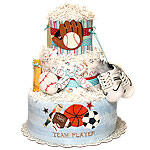 Team Player Baseball Diaper Cake