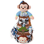 Jungle Musical Monkey Diaper Cake