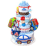 Traffic Light Cars Diaper Cake