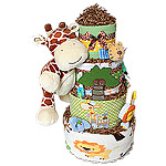Jungle Safari Giraffe Diaper Cake