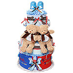 Twins! Boys! Bears Diaper Cake
