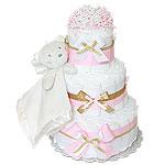 Angel Bear Diaper Cake