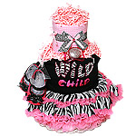 Hot Pink Wild Child Diaper Cake