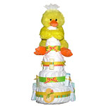 HUGE! Yellow Duck Diaper Cake