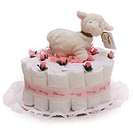 Little Pink Sheep Diaper Cake