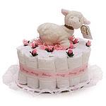 Little Pink Sheep Diaper Cake
