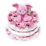 Pink Bunny Diaper Cake