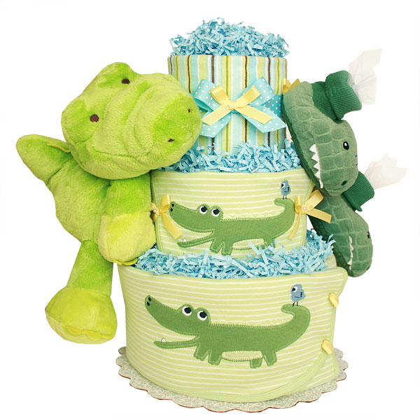 Croc diapers cake
