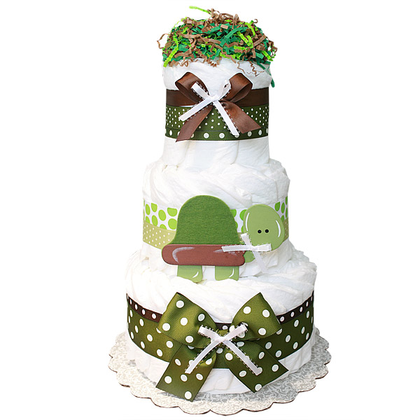 Diaper Cake Decorations : Brown And Green Baby Shower Decorations Best Baby Decoration