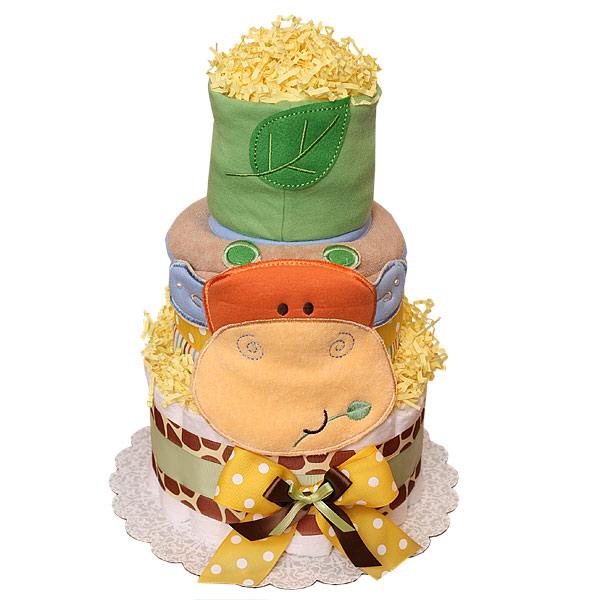 Moomoo diapers cake