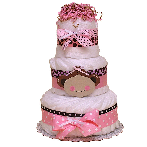 Diaper Cake Decorations : MONKEY DIAPER CAKE IDEAS diaper cake