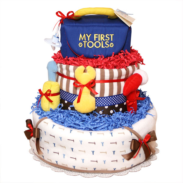 My First Tools Diaper Cake - $145.00 : Diaper Cakes Mall, Unique Baby ...