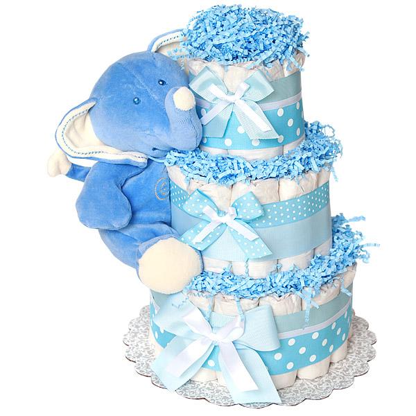 Anic Blue Elephant Diaper Cake