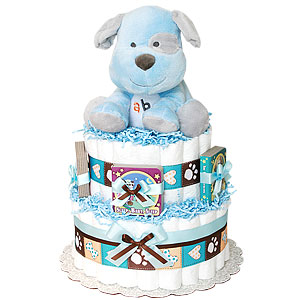 ABC Musical Puppy Diaper Cake