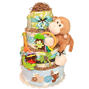 Little Monkey Diaper cake