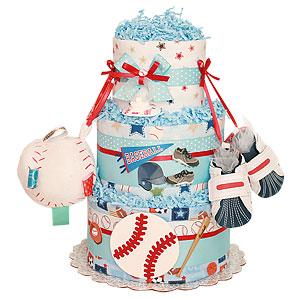 Baseball Bat Sport Diaper Cake