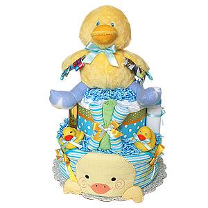Duck Bath Diaper Cake for a Boy