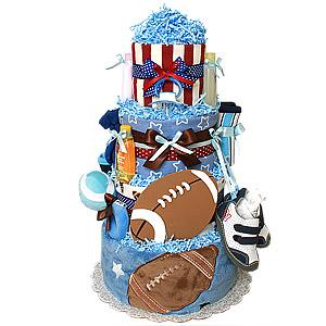 Football Sport Diaper Cake