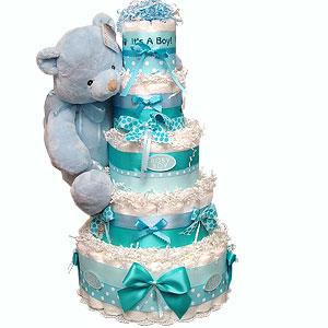 It's a Boy! Blue Bear Diaper Cake