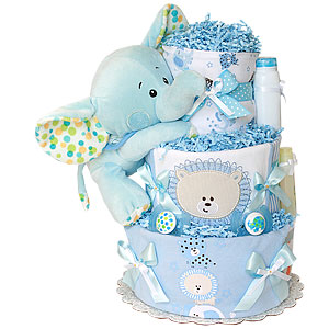 It's a BOY! Elephant Diaper Cake