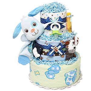 Cute Little Puppy Diaper Cake
