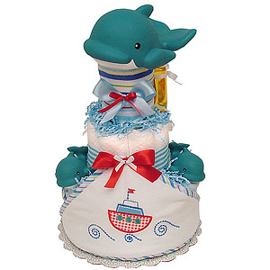 DOLPHIN Diaper Cake for a Boy