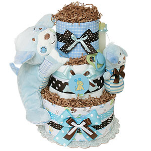 Little Cutie Puppy Diaper Cake
