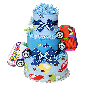 Beep! Cars Boy Diaper Cake